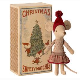 Big Sister SOURIS Maileg Christmas et boîte S. 13 cm