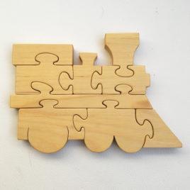 PUZZLE en bois Locomotive Hauteur 15 cm