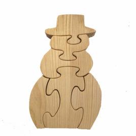 PUZZLE en bois Bonhomme Hauteur 14 cm