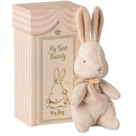 Mon Premier LAPIN Maileg Rose 18 cm et boîte cadeau