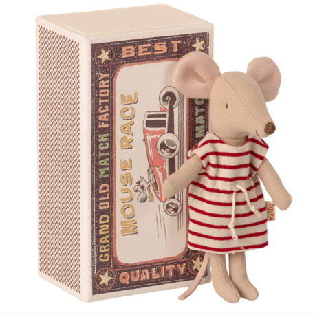 souris maileg big sister mouse in matchbox 16-1734-01