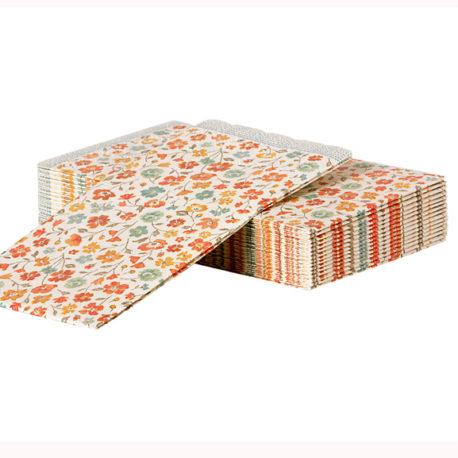 lot serviettes maileg fleurs 15-1301-00 napkin flowers maileg