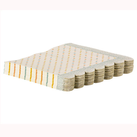 lot serviettes maileg multi points 15-1300-00 napkins multi dots maileg