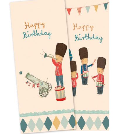 serviettes en papier MAILEG happy birthday 15-6304-00 napkins skittles B