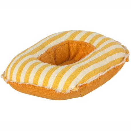 bateau pneumatique maileg jaune 11-1403-00 rubber boat small mouse