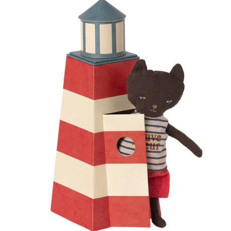 chat maileg sauveteur avec phare 16-1900-00 sauveteur tower with cat