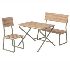 Ensemble de Jardin Maileg Set Table banc et chaise