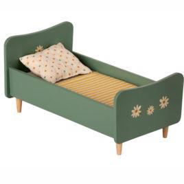 Lit Maileg Mini Vert en bois –  cm