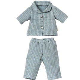 Pyjama rayé bleu Maileg Teddy Papa Ours