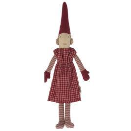Lutin Pixy Maileg Fille Lutin aimanté – Robe rouge