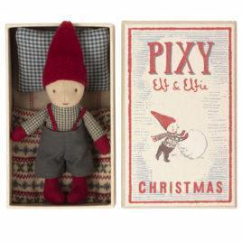 Pixy Elfe Maileg Ami de Noël avec boîte Ht 13 cm