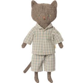 CHATON Maileg Gris – Chat habillé – 25 cm