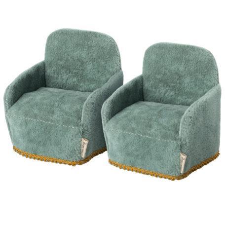 lot 2 fauteuils maileg chair 11-1408-00