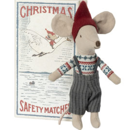 SOURIS Noël Maileg Grand Frère avec boîte – S. 13 cm